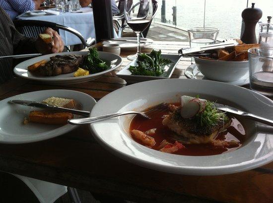Kingsleys Steak & Crabhouse : One steak and one barramundi