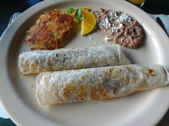 Tijuana Tilly's: burritos con machaca deshebrada