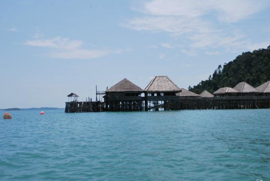 Telunas Resorts - Telunas Beach Resort: The resort from the water side
