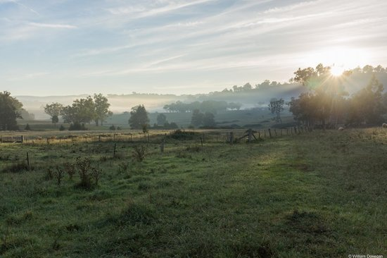 Dag Sheep Station: Sun rising over the hills