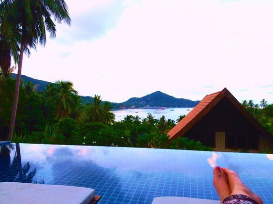 Koh Tao Heights Boutique Villas : View from the pool