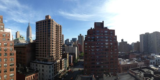 Panoramic view from the sun deck and lounge of the Marcel at Gramercy (c) Brian of London
