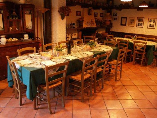 Agriturismo Biologico Barone A. Negri di Gaiano : salle à manger