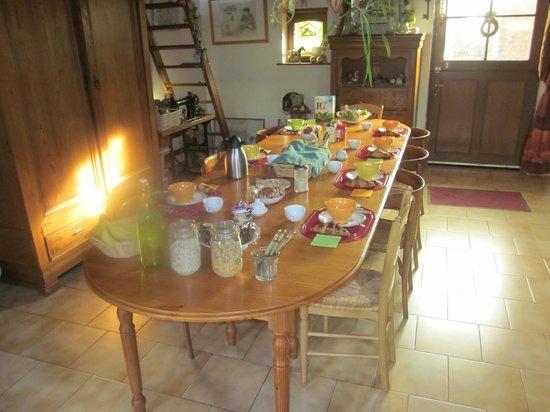 Pantgat Hof : Breakfast table