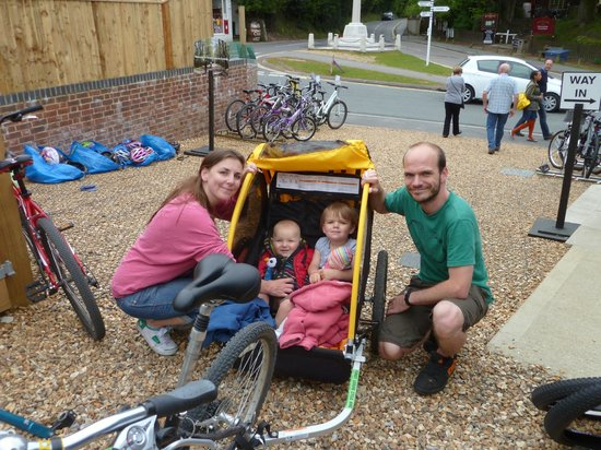 Forest Leisure Cycling: A Happy Family!