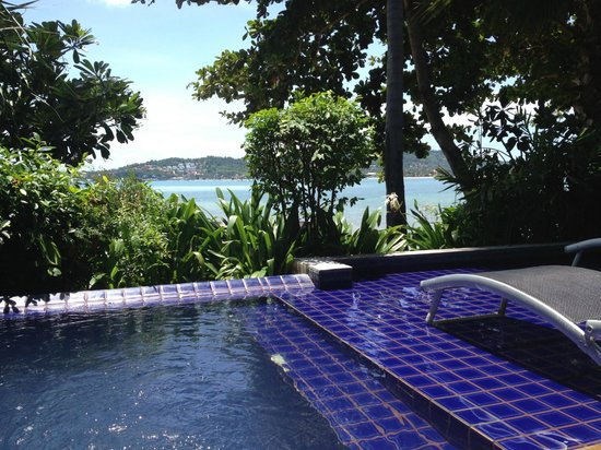 Punnpreeda Pool Villa Beachfront : Plunge pool view from villa 903