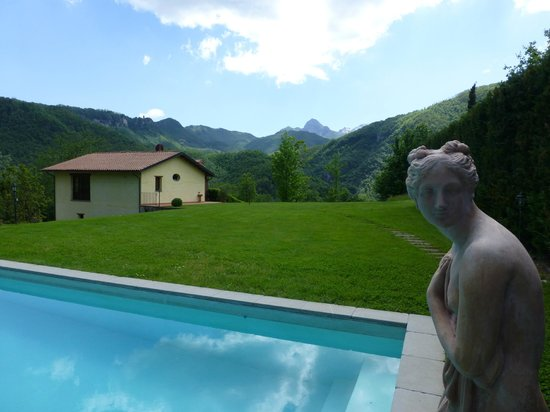 Pruneta di Sopra: House and pool