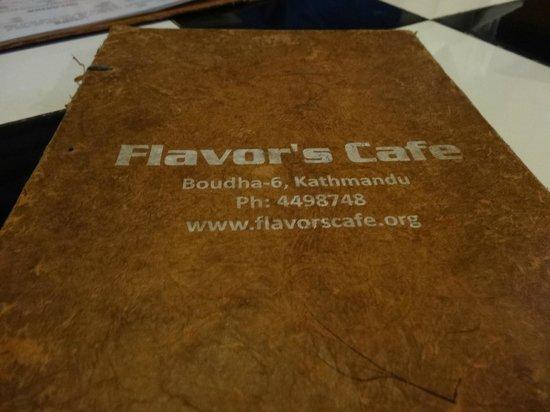 Flavor's Cafe & Restaurant : Menu