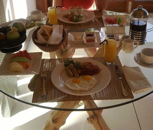 Maca Villas & Spa: Unser Frühstück in der Villa