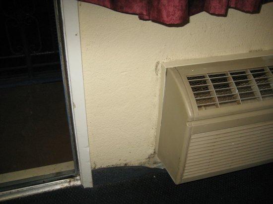 Surf Motel: verschimmelte Wand