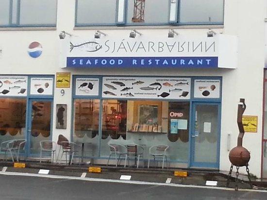 Sjavarbarinn: Outside of Restaurant.