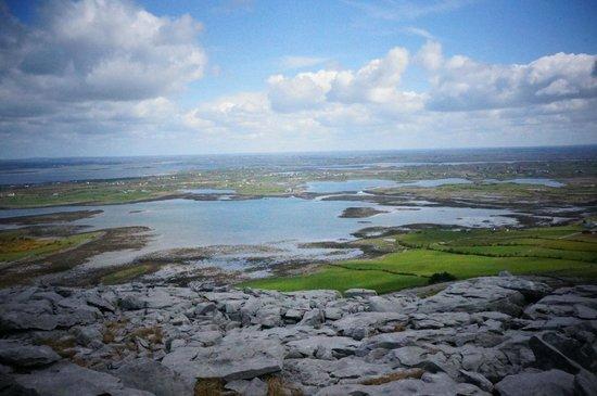 Burren Yoga Retreats : View from the walk in the Burren