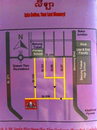 Map to Lyla Center