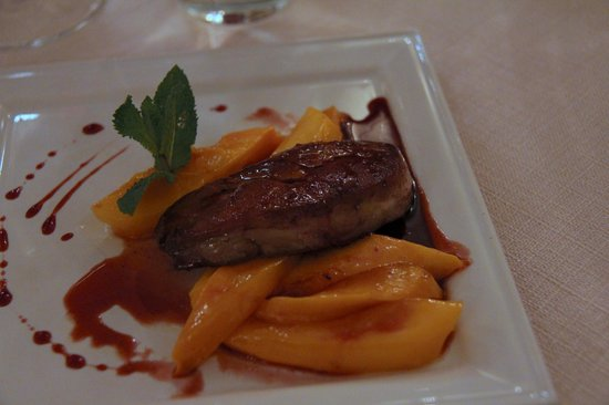 Le Poeme de Grignan : First Course: Foie Gras and Mangoes