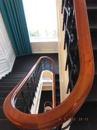 ホテル階段踊り場