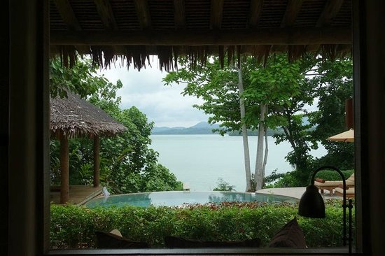 The Naka Island, A Luxury Collection Resort & Spa Phuket: View from bed in Seaview Pool Villa