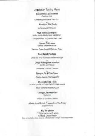 Fischer's Baslow Hall: Veggie tasting menu