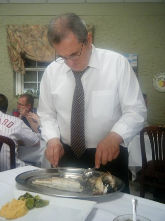 Ristorante La Locanda: your fish is prepared to be served at the tableside.