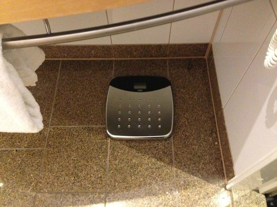 Clarion Hotel Copenhagen Airport: Scale in bathroom
