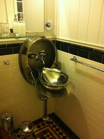 Number 12: Novel sink from railway carriage