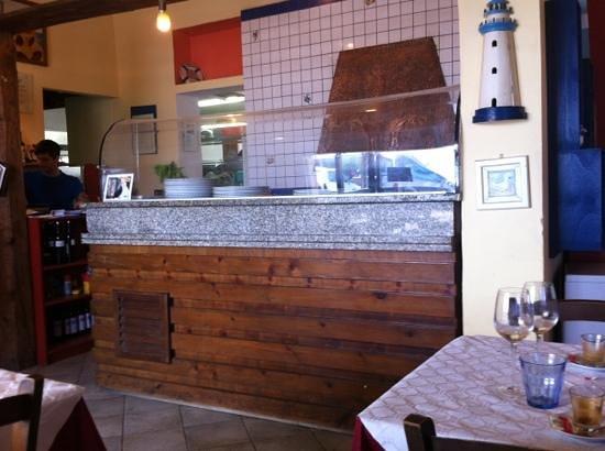 Ristorante Pizzeria Lo Scoglietto: banco pizza