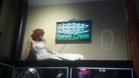 Barley Creek Brewing Company: Not sure why there's a mannequin in this establishment.