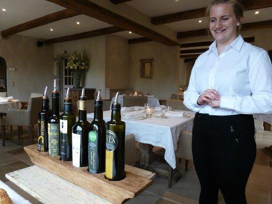 De Tuinkamer: The choice of olive oils