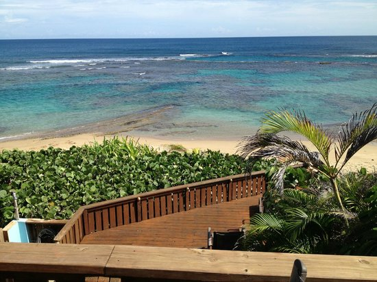 Villa Tropical Oceanfront Apartments on Shacks Beach: View from Deck