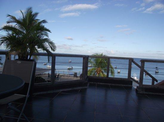 Hôtel Sarimanok : vue de la terrasse