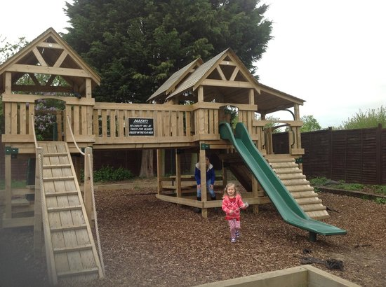 Galley Hall: Brand new outdoor play area for the kids.  Big investment