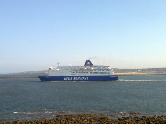 The Fish Quay Fair: DFDS Ferry along the River Tyne