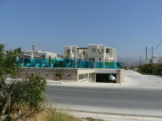 Princess of Naxos: Hotel from across the road