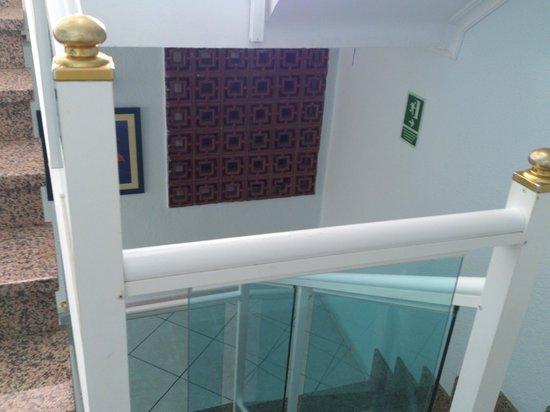 Hotel Maritimo : Room window / delightful view of reception stairway