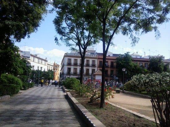 Hotel Dona Manuela : in fondo ai giardini del murillo, l'albergo