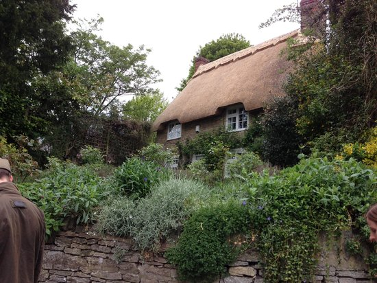 Cartwright Hotel: Gorgeous thatched-roof home and garden just down the lane.