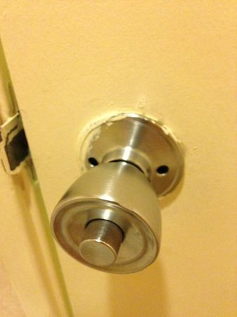 Bathroom door knob Picture of Clarion Hotel Anaheim Resort
