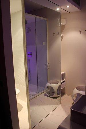 Bathroom Area With Sliding Door Note Open Plan With Bedroom Unique Bathroom Sliding Door Designs Plans