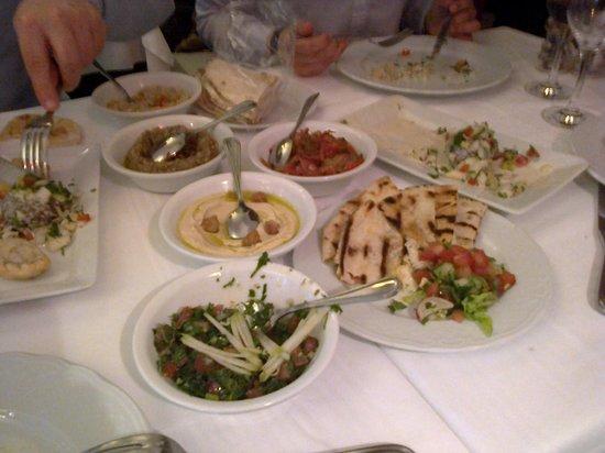 Chez Madeleine: Mezze végétariens pour deux (et c'était trop !)