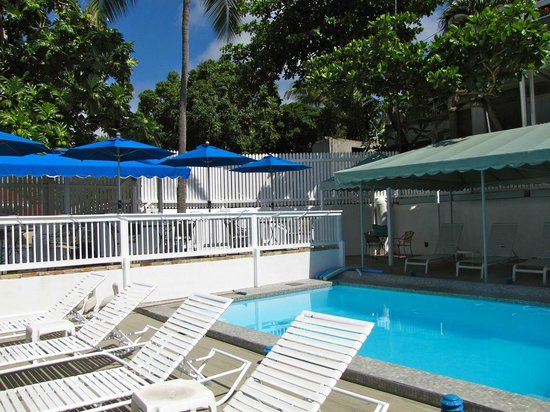At Home In The Tropics Bed and Breakfast Inn : View of pool area