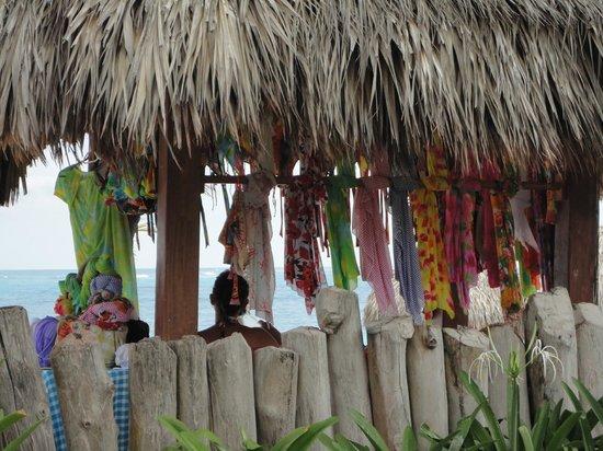 VIK Hotel Arena Blanca: Lady selling beautiful swimwear on the beach
