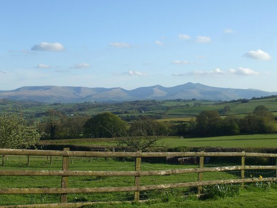 Caebetran Farm Bed & Breakfast: View of the Brecon Beacons from the farm