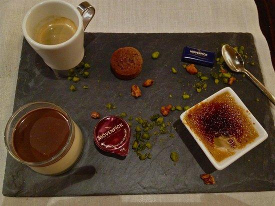 Movenpick Hotel & Casino Geneva: wonderful coffees and desserts tray ~