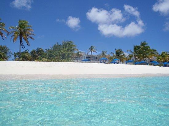 Shoal Bay Villas: In ocean looking back at property