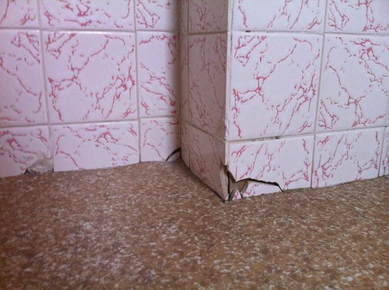 Red Lea Hotel: Cracked tiles along the floor