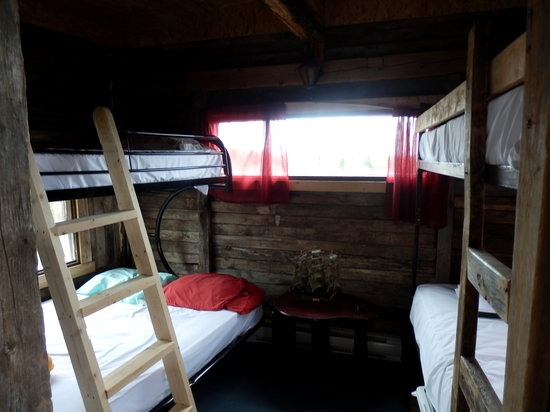 """Auberge Griffon Aventure : Inside the cabin """"Le Griffon"""" (the boat one) : don't be fooled, that is the only part you have a"""