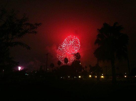 Anaheim RV Park: Anaheim Resort RV Park fireworks seen from campsite