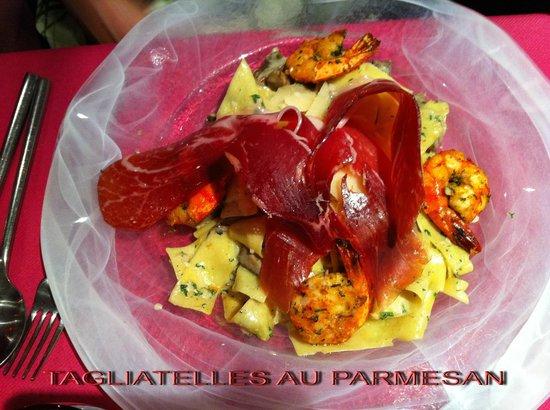 Restaurant Les Viviers Saint Martin : TAGLIATELLES AU PARMESAN