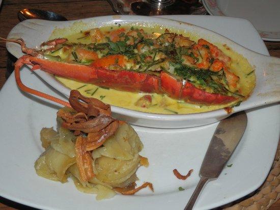 Ty Gwyn Hotel: Half a lobster - yum!