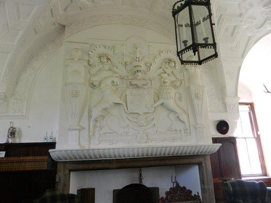 Craigievar Castle: Fireplace - rare inside photo