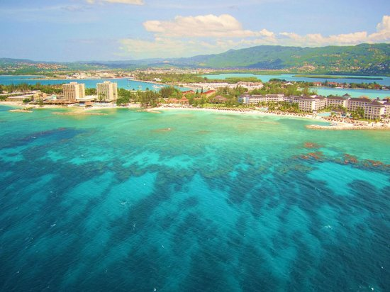 Secrets St. James Montego Bay: Our view from parasailing